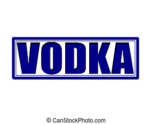 Vodka - Stamp with word vodka inside, vector illustration