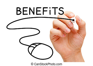 Benefits Mouse Concept - Hand sketching Benefits concept...
