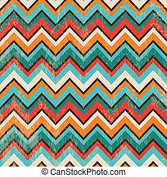 Seamless Geometric Zigzag Background - Vector Seamless...