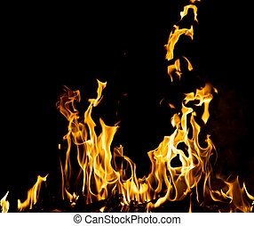 abstract background fire flames on a black background