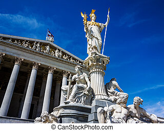 austria, vienna, parliament - the parliament in vienna,...