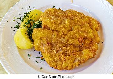 schnitzel - wiener schnitzel, unhealthy diet