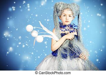 winter fantasy - Portrait of a beautiful girl who looks like...