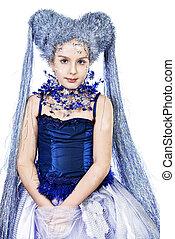 snow princess - Portrait of a beautiful girl who looks like...