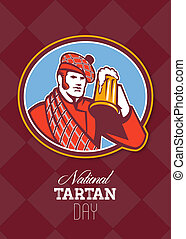 National Tartan Day Beer Drinker Greeting Card - Greeting...