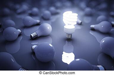 lâmpadas, azul