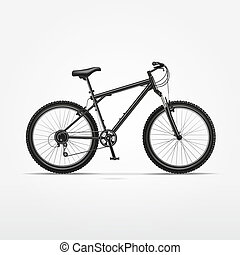 Vector Realistic Isolated Bicycle