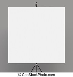 flip chart on tripod on white background