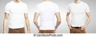 three guy in T-shirt