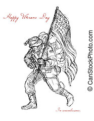 American Veterans Day Remembrance Greeting Card - Greeting...