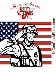 American Veterans Day Greeting Card - Greeting card poster...
