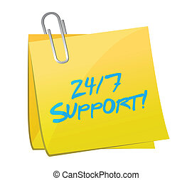 24 7 support post illustration design