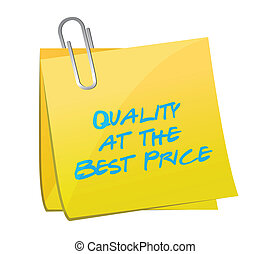 quality at the best price post illustration design