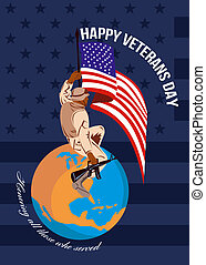 Modern American Veterans Day Greeting Card - Greeting card...