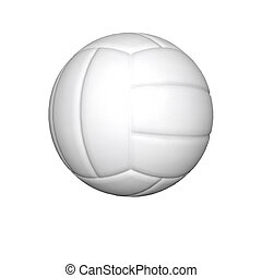 volleyball on the white