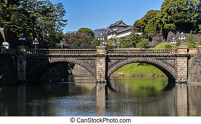 Imperial Palace, Tokyo, Japan. The main residence of the...