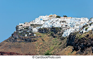 Imerovigli on Santorini Island - Large view of Imerovigli...