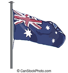 Australian Flag vector - Australian world flag flying
