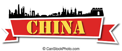 China Banner Skyline - Great Mainland China Building Banner...