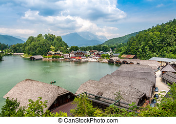 Port at The Konigssee - View at Konigssee Port Berchtesgaden...
