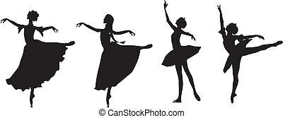 ballet dancers ballerina set