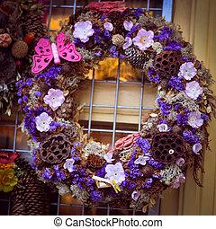 navidad, pino, árbol, guirnalda, decorat