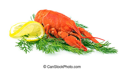 Red cooked lobster