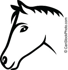 Face horse tribal design