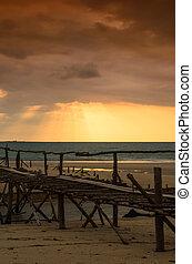 bridge and sunset