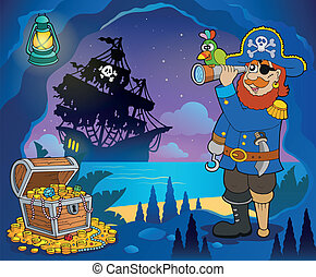 Pirate cove theme image 3 - eps10 vector illustration.