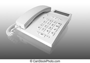 vit, telefon, kontor