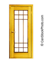 wooden door - constructionobject wooden door isolated on...
