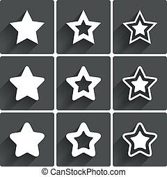 Star icons. Rating stars symbols. Feedback rating. Vector...