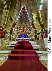 Interior Basilica of Nuestra Senora de la Altagracia at...