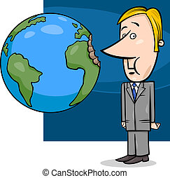 business concept cartoon illustration - Concept Cartoon...
