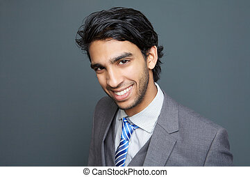 Portrait of a cheerful young business man - Close up...