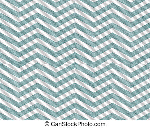 Pale Teal and White Zigzag Textured Fabric Background that...