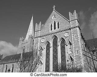 Christ Church in Dublin, gothic architecture style - in...