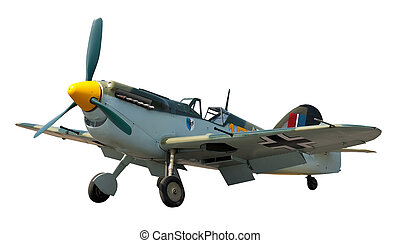 WW2 German fighter - vintage WW2 german fighter aircraft...