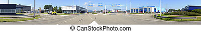 Security checkpoint - An intersection near a security...