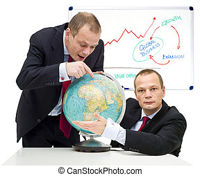 Expanding markets globally - Conceptual image of discovering...