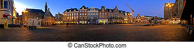 Market square Haarlem - Panorama of the market square in...