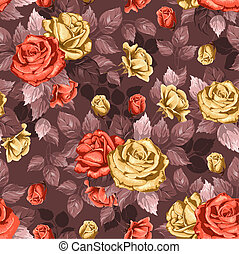 Rose. Seamless background.