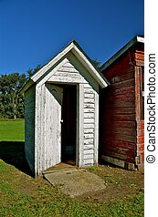 Open Door to the Outhouse
