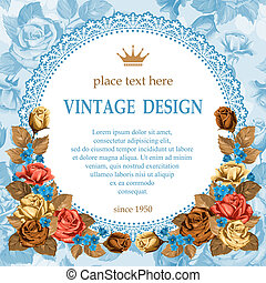 Vintage design - Vintage background with beautiful rose