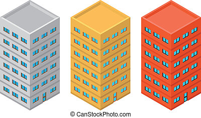 Isometric building - High detailed vector isometric building