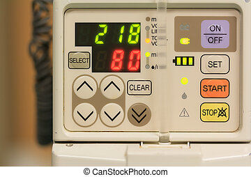 IV machine - number on IV machine in the room