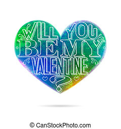 valentine-aqua2 - Will you be my Valentine greeting card...