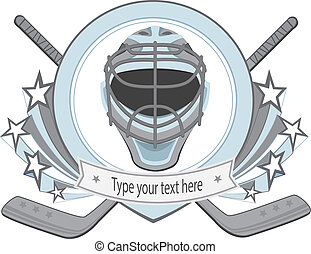 Ice hockey labels, badges. Ice Hockey emblem