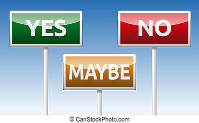 Yes, No, Maybe - Green Yes, red No and orange Maybe traffic...